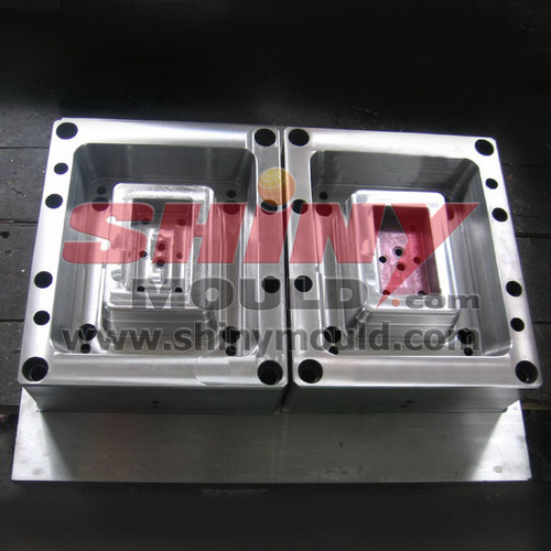 2 cavity plastic container mould