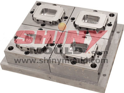4 cavity container mould cavity